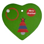 Merry Christmas - green - Ornament (Heart)
