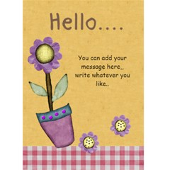 Hello Card 1 Missy By Lillyskite   Greeting Card 5  X 7    0uheg37zmr9q   Www Artscow Com Back Inside