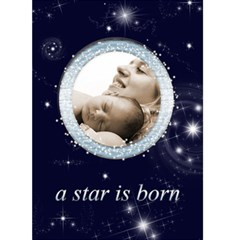 A Star Is Born New Baby Announcement Card 7 X 5 By Catvinnat   Greeting Card 5  X 7    Knp0fm7p9kay   Www Artscow Com Front Cover