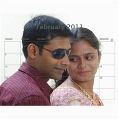 Sureshcalendar By Soma Venkata   Wall Calendar 11  X 8 5  (12 Months)   2ecksls3xx4k   Www Artscow Com Feb 2011