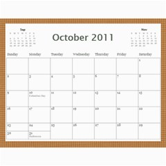 2011 Calendar By Lisa Willford   Wall Calendar 11  X 8 5  (12 Months)   C3l30c6yv424   Www Artscow Com Oct 2011