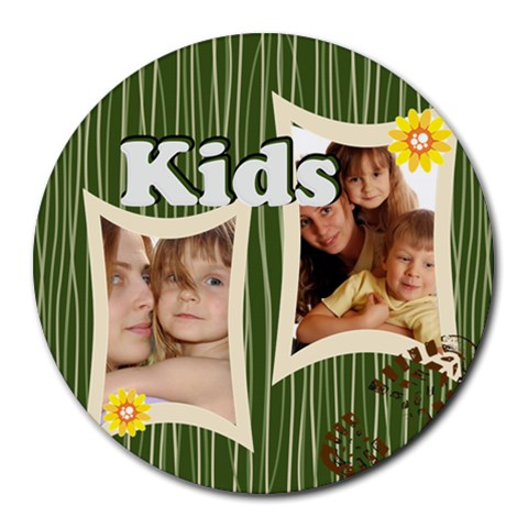 Kids By Wood Johnson   Round Mousepad   Geca6bi7ou6u   Www Artscow Com Front