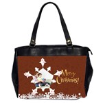 snow xmas - Oversize Office Handbag (2 Sides)