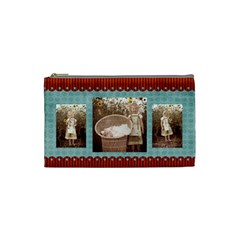 Scalloped Edge Cosmetic Bag By Sheena   Cosmetic Bag (small)   54dmtanz7byn   Www Artscow Com Front