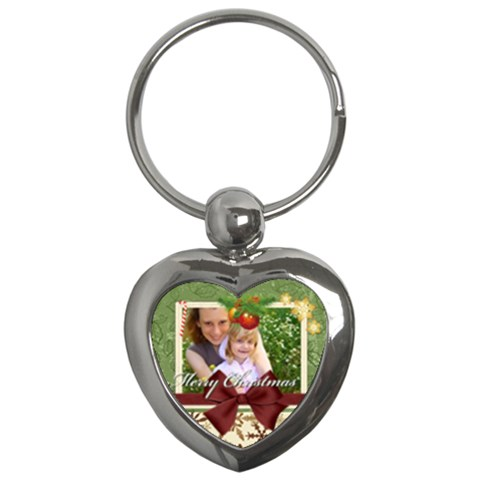 Xmas By Joely   Key Chain (heart)   80accet5rzjw   Www Artscow Com Front