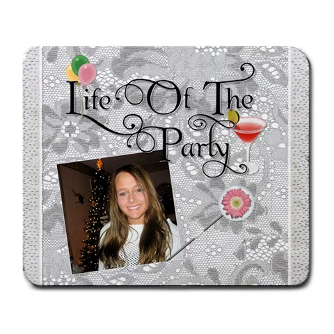 Life Of The Party Large Mousepad By Lil    Large Mousepad   3xwn6rwgz8kw   Www Artscow Com Front