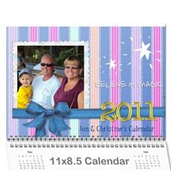 Christine Xmas Calendar Present By Tami Kos   Wall Calendar 11  X 8 5  (12 Months)   47tyiq5pcfj9   Www Artscow Com Cover