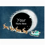 Christmas 7x5 sleigh - 5  x 7  Photo Cards