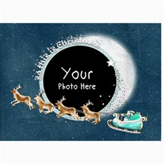 Christmas 7x5 Sleigh By Lillyskite   5  X 7  Photo Cards   6uitgquc30k9   Www Artscow Com 7 x5  Photo Card - 5