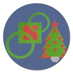 Christmas tree  magnet - 5   - Magnet 5  (Round)
