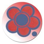 Flower magnet - 5   - Magnet 5  (Round)