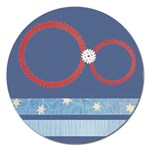 Snowflake magnet - 5   - Magnet 5  (Round)