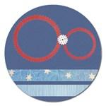 Snowflake magnet - 5   - Magnet 5  (Round)