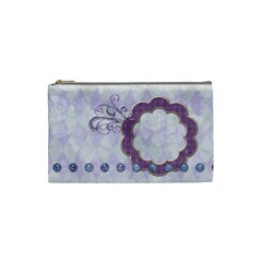Lavender Rain Cosmetic Bag Small 101 By Lisa Minor   Cosmetic Bag (small)   Guvfarj01tq3   Www Artscow Com Front
