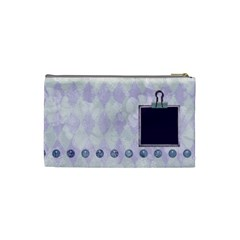 Lavender Rain Cosmetic Bag Small 101 By Lisa Minor   Cosmetic Bag (small)   Guvfarj01tq3   Www Artscow Com Back