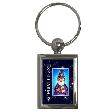 Expelliarmus Wizard Words Halloween Keyring By Catvinnat   Key Chain (rectangle)   Efsbakegfrpd   Www Artscow Com Front