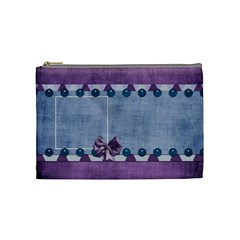 Lavender Rain Cosmetic Bag 102 By Lisa Minor   Cosmetic Bag (medium)   Sjcnp4i28tah   Www Artscow Com Front