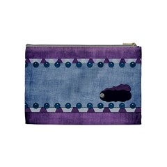 Lavender Rain Cosmetic Bag 102 By Lisa Minor   Cosmetic Bag (medium)   Sjcnp4i28tah   Www Artscow Com Back