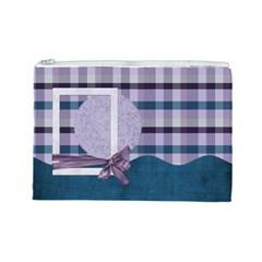Lavender Rain Cosmetic Bag Large 103 By Lisa Minor   Cosmetic Bag (large)   Tx1lu3w5j1xi   Www Artscow Com Front
