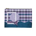 Lavender Rain Cosmetic Bag Large 103 - Cosmetic Bag (Large)