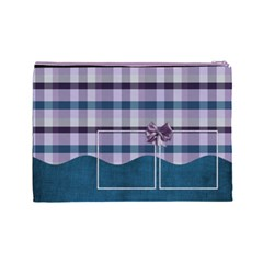 Lavender Rain Cosmetic Bag Large 103 By Lisa Minor Back