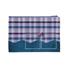 Lavender Rain Cosmetic Bag Large 103 By Lisa Minor   Cosmetic Bag (large)   Tx1lu3w5j1xi   Www Artscow Com Back