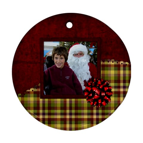 All I Want For Christmas Ornament 104 By Lisa Minor   Ornament (round)   Vgvhm3h6ngqc   Www Artscow Com Front