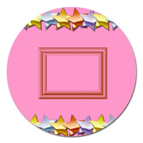 Pink Birthday Magnet   5   By Daniela   Magnet 5  (round)   Pmhkbm0olnr4   Www Artscow Com Front