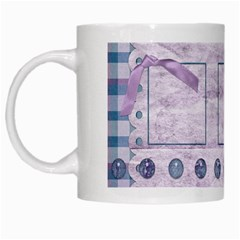 Lavender Rain Mug 101 By Lisa Minor   White Mug   8cba98ekgl8w   Www Artscow Com Left