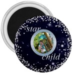Star Child 3 inch fridge magnet - 3  Magnet