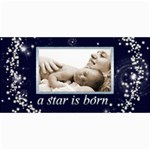 A Star is Born Birth Announcement Card - 4  x 8  Photo Cards