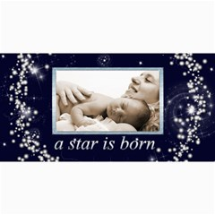 A Star Is Born Birth Announcement Card By Catvinnat   4  X 8  Photo Cards   Dthq8k28l498   Www Artscow Com 8 x4 Photo Card - 4