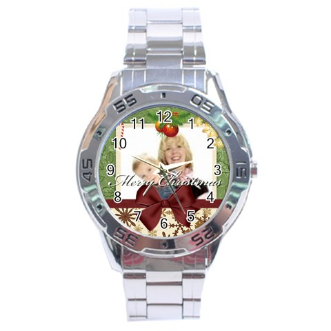 Xmas By Joely   Stainless Steel Analogue Watch   5htrw9ukoga9   Www Artscow Com Front