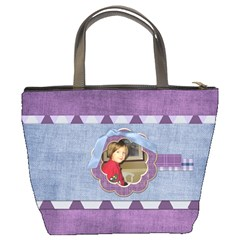 Lavender Rain Bucket Bag 101 by Lisa Minor Back