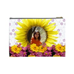 Flowes Cosmetic Bag 1 By Galya   Cosmetic Bag (large)   Cqxkge9w6ttd   Www Artscow Com Back