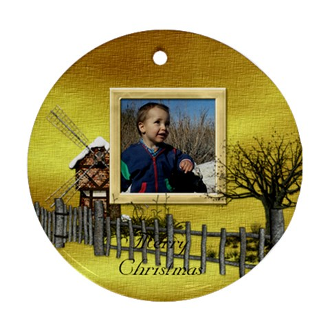 Botanical Wonderland Ornament 101 By Lisa Minor   Ornament (round)   T90v10hbvx29   Www Artscow Com Front