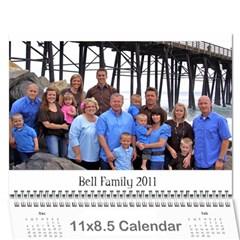 Bell Family Calendar 2011 By Emily   Wall Calendar 11  X 8 5  (12 Months)   17aykteekomu   Www Artscow Com Cover