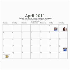 Bell Family Calendar 2011 By Emily   Wall Calendar 11  X 8 5  (12 Months)   17aykteekomu   Www Artscow Com Apr 2011