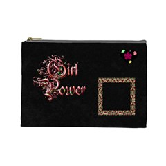 Girl Power Cosmetic Bag Large By Lisa Minor   Cosmetic Bag (large)   52rj05th3top   Www Artscow Com Front