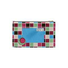 Bloop Bleep Cosmetic Bag Small By Lisa Minor   Cosmetic Bag (small)   Ojfebsswm3wg   Www Artscow Com Back