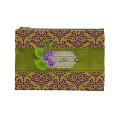 Cosmetic Case  Purple Love  Large By Jennyl   Cosmetic Bag (large)   Gk02vucrrduz   Www Artscow Com Front