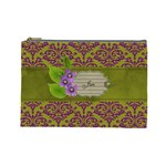 cosmetic Case- Purple Love- LARGE - Cosmetic Bag (Large)