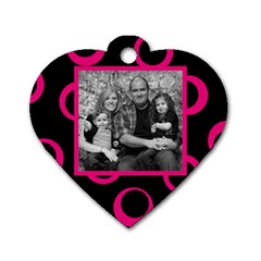Heart Wild Family By Amanda Bunn   Dog Tag Heart (two Sides)   B8kga8e9epjf   Www Artscow Com Front