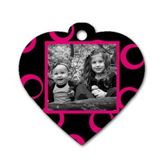 Heart Wild Family By Amanda Bunn   Dog Tag Heart (two Sides)   B8kga8e9epjf   Www Artscow Com Back