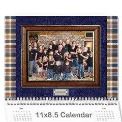 Family Calendar For Grandfather By Angela   Wall Calendar 11  X 8 5  (12 Months)   3y7eoa9vx495   Www Artscow Com Cover