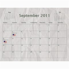 Family Calendar For Grandfather By Angela   Wall Calendar 11  X 8 5  (12 Months)   3y7eoa9vx495   Www Artscow Com Sep 2011