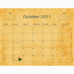 Family Calendar For Grandfather By Angela   Wall Calendar 11  X 8 5  (12 Months)   3y7eoa9vx495   Www Artscow Com Oct 2011