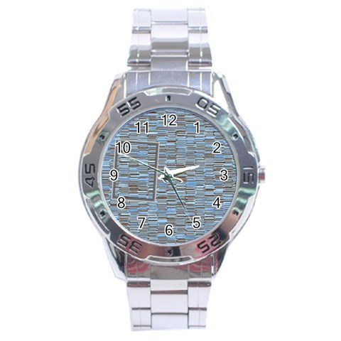 Blue Watch By Daniela   Stainless Steel Analogue Watch   4d9vxhtb9g5x   Www Artscow Com Front