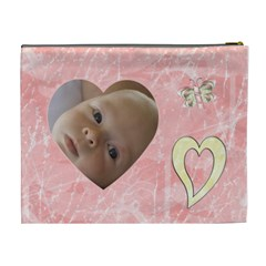 Gentle Times Xl Cosmetic Case By Joan T   Cosmetic Bag (xl)   I1btb58xr1at   Www Artscow Com Back