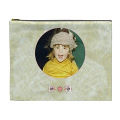 Gentle Times Xl Cosmetic Case By Joan T   Cosmetic Bag (xl)   8u81646q2ps1   Www Artscow Com Front